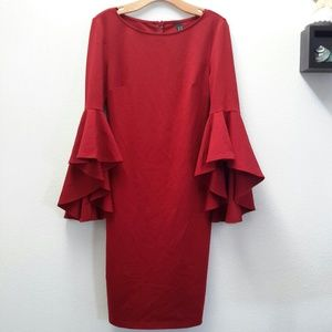 Dresses & Skirts - Trumpet sleeves dress, size M, NWT